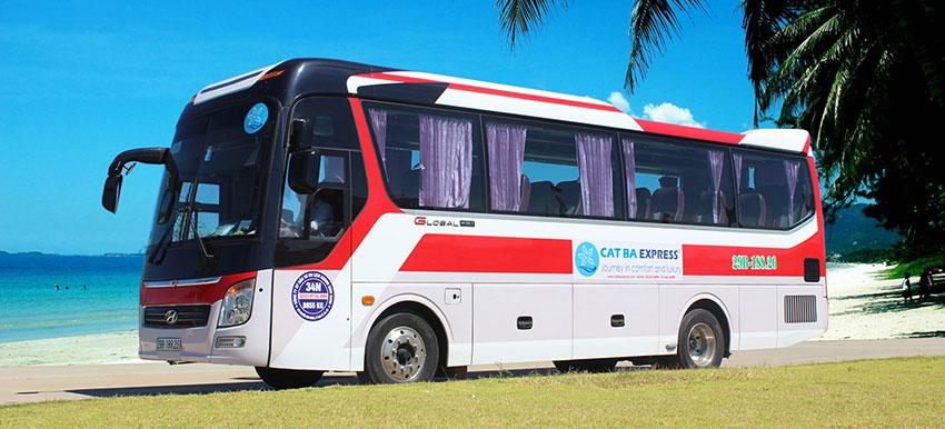 Xe buýt từ Hà Nội đi Cát Bà
