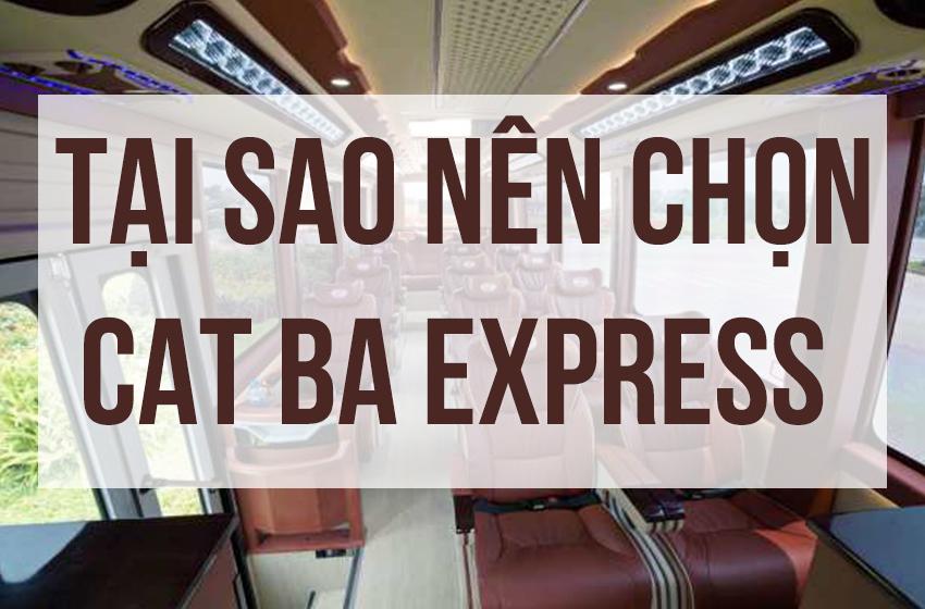 Tại sao nên chọn Cát Bà Express
