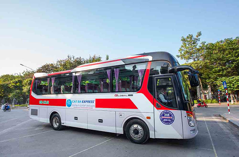 Bus Hanoi to Cat Ba Island