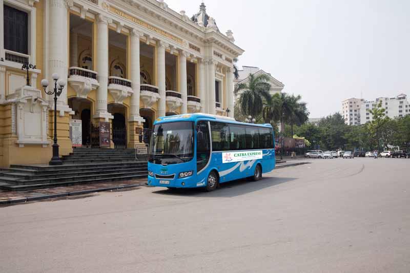 Bus Cat Ba to Hanoi 0