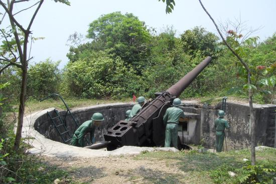 Historical Cannon Fort in Cat Ba Island