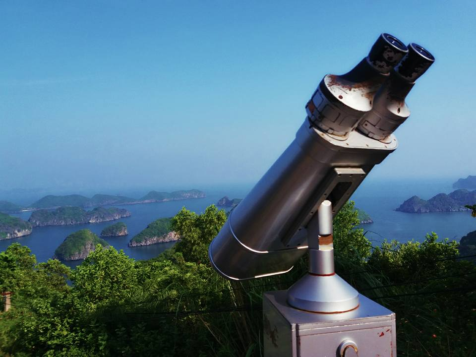 Astronomical binoculars on Cannon Fort