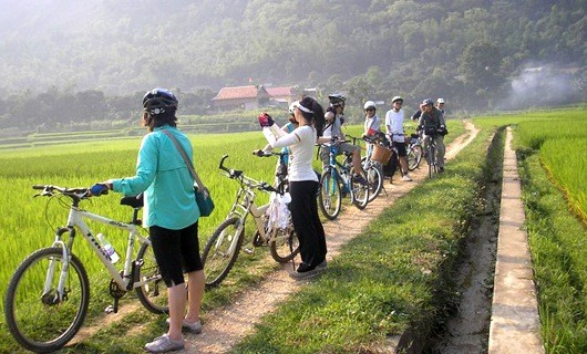 Image result for biking mai chau